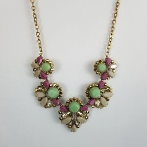 J. Crew Purle and Gold Statement Piece Necklace